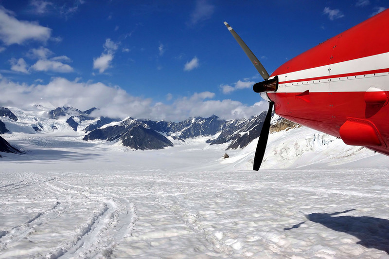 Glacier flightseeing in Talkeetna