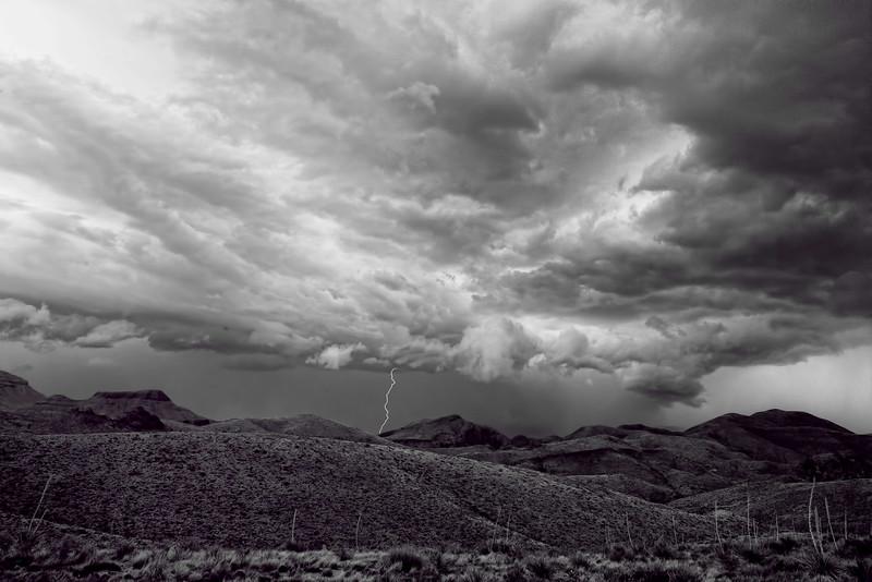Big Bend thunder shower