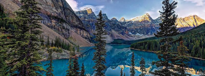 Sunrise at Lake Moraine, Banff National Park