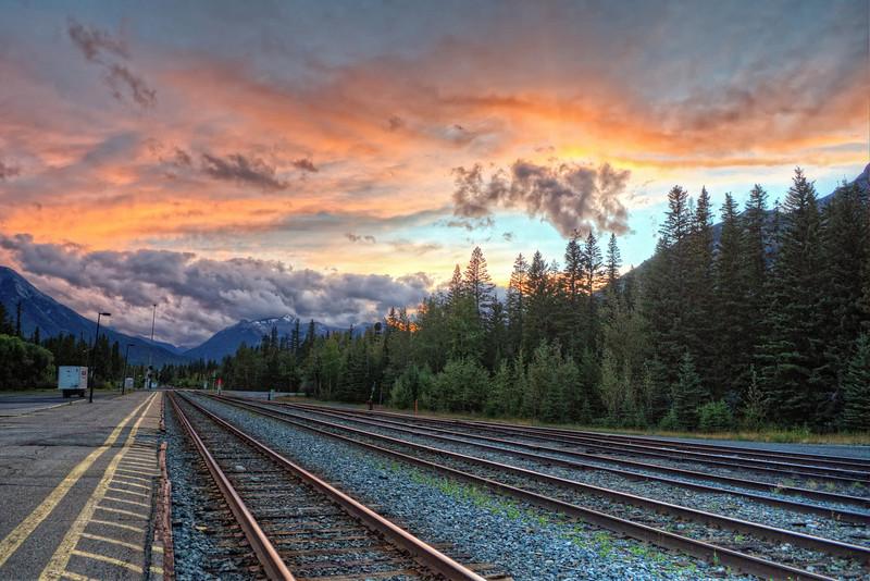 Sunset at the train yard