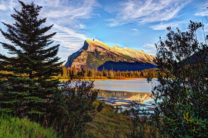 Mount Rundle from Vermilion Lakes