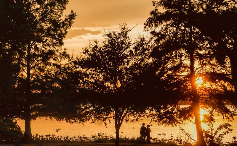 Sunset on Sunset Bay, White Rock Lake, Dallas