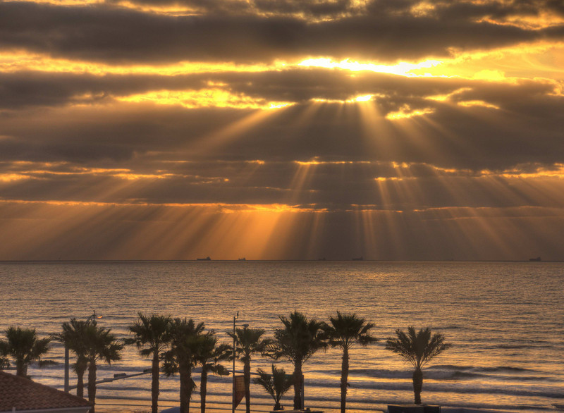 Sunrise on Galveston Beach