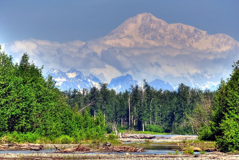 Denali from Talkeetna River