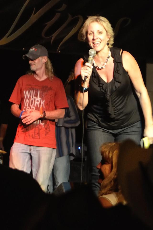 Brett Dillon and Stephenville mayor Nancy Hunter