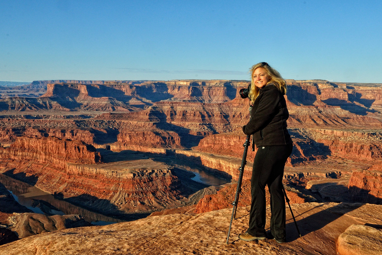 Jaki shoots Dead Horse Point