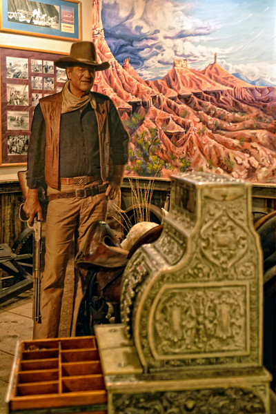 In the movie museum at Red Cliffs Lodge