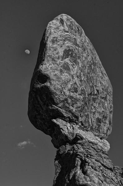 Moon over Balanced Rock