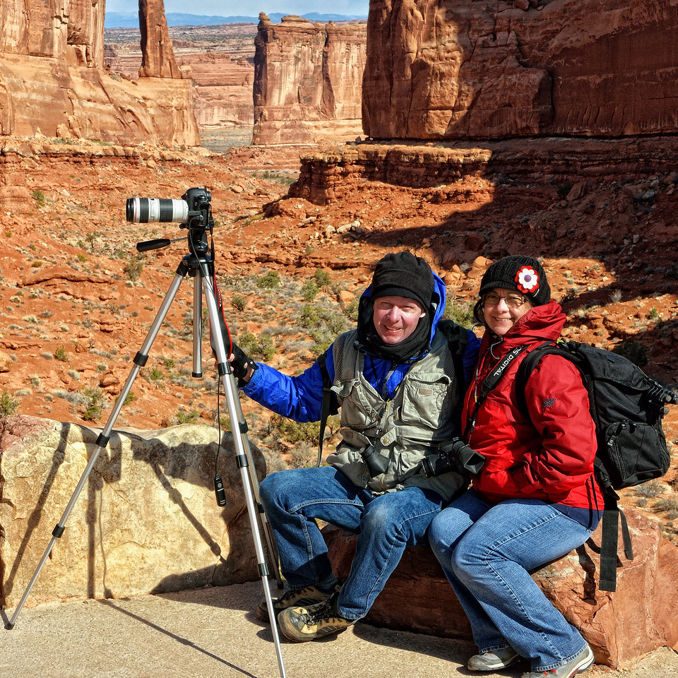 Jack and Tanya at Park Avenue, Arches National Park