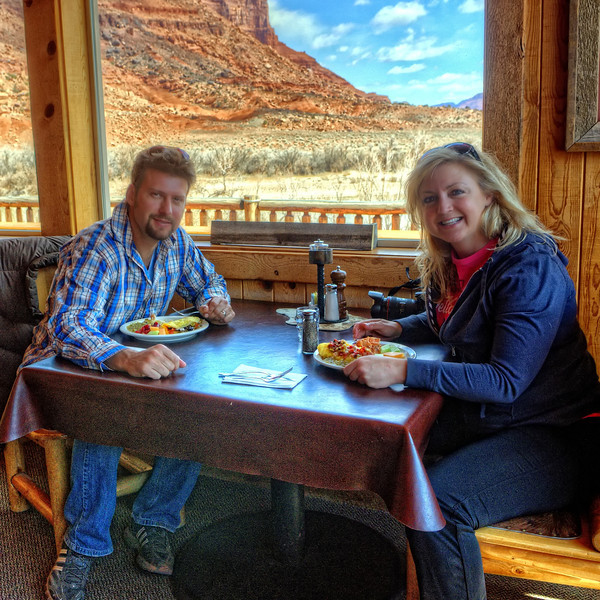 Clark and Jaki, Red Cliffs Lodge brunch