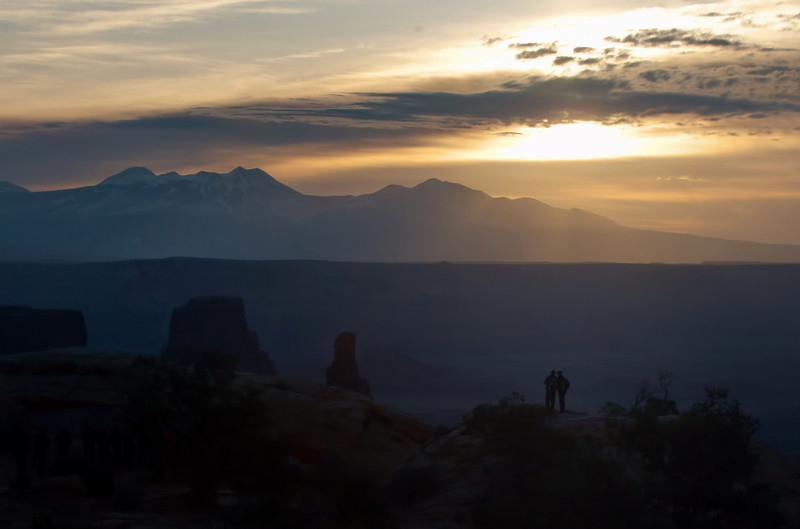 On the Mesa Arch trail