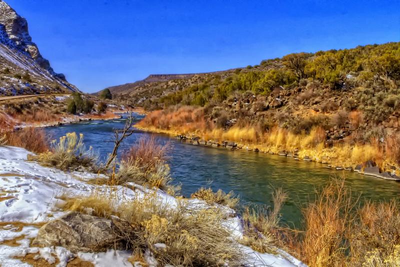 The Rio Grande between Taos and Santa Fe (Explored March 8, 2012 #163)
