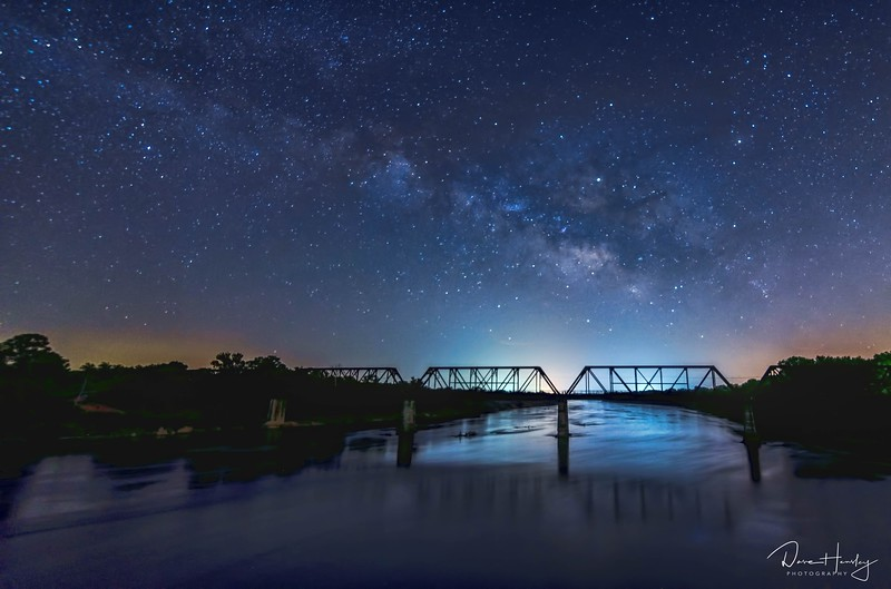 Milky Way over Carpenter's Bluff Bridge