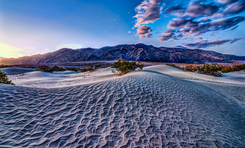 Mesquite Sand Dunes at sunrise
