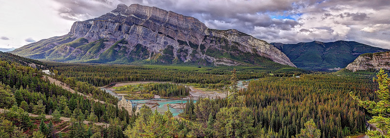 Hoodoo Overlook - Mount Rundle and the Bow River