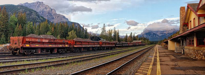 Banff train yard