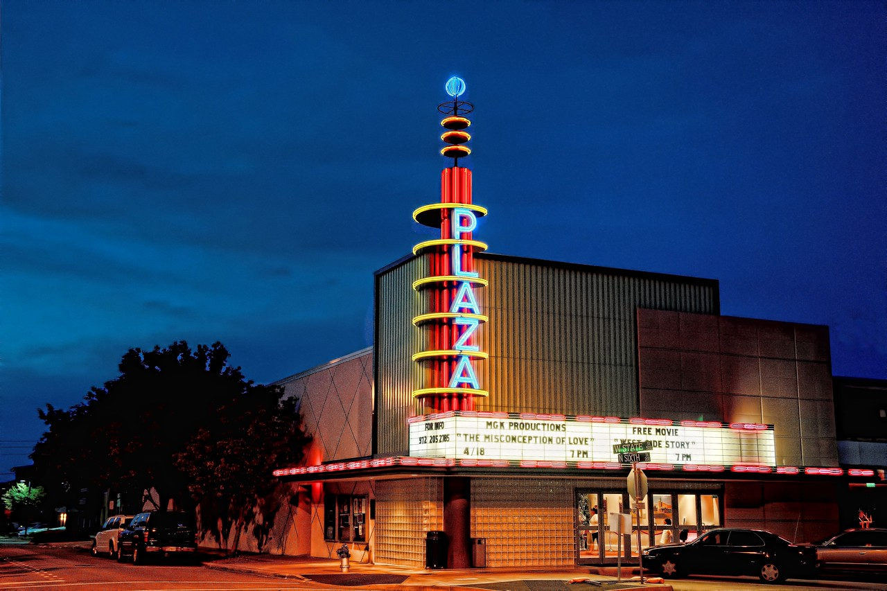The Plaza Theatre, downtown Garland square
