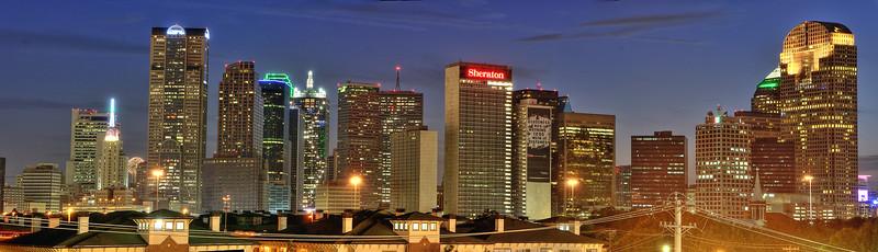 Dallas skyline - eastern view