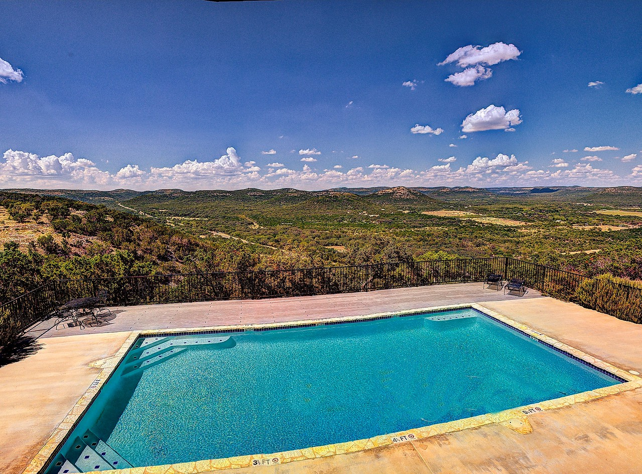 Swim with a Texas Hill Country view