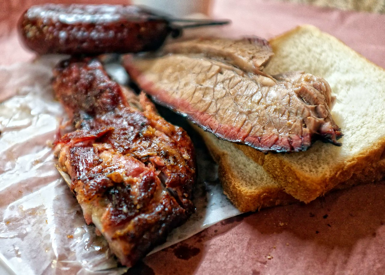 Brisket, rib and ring from City Market, Luling