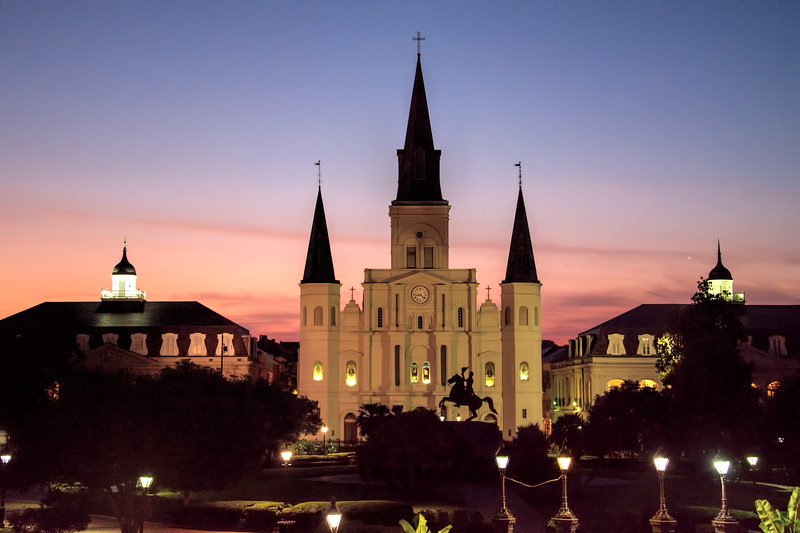 Jackson Square at sunset