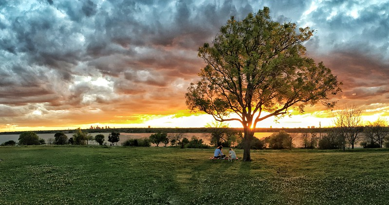Sunset at Winfrey Point, White Rock Lake