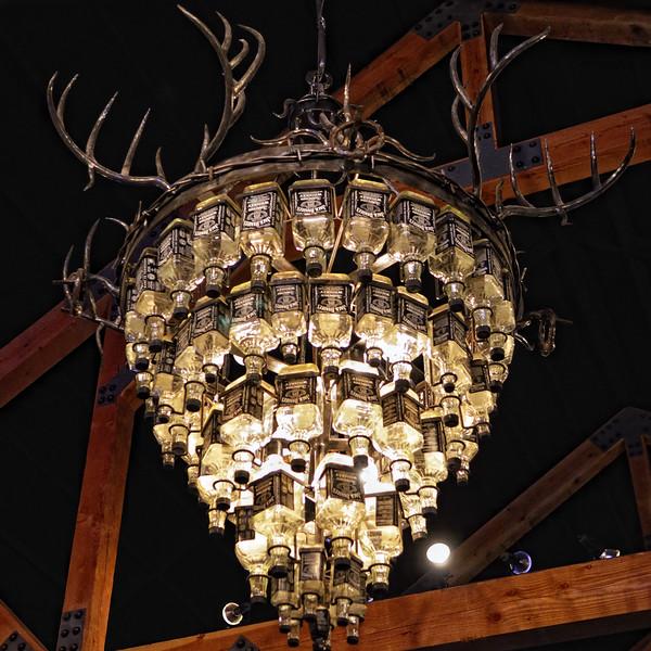 The Jack Daniels chandelier