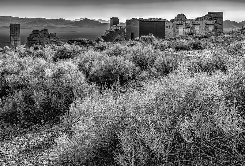 Rhyolite, Nevada ghost town (monochrome)