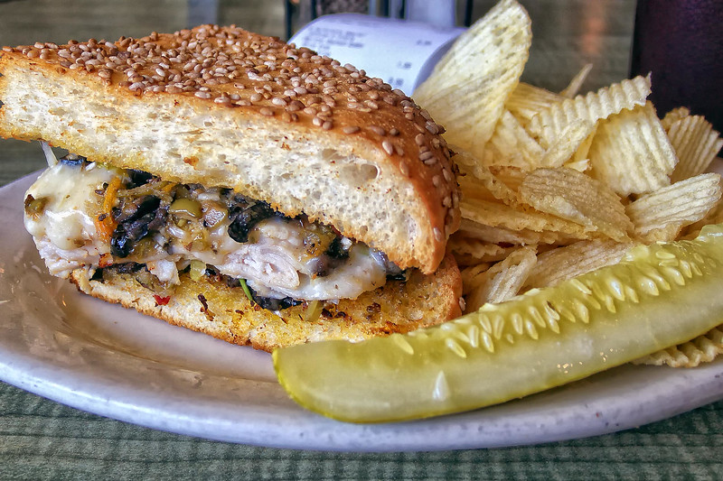 The Turkey Muffaletta from Jason's Deli