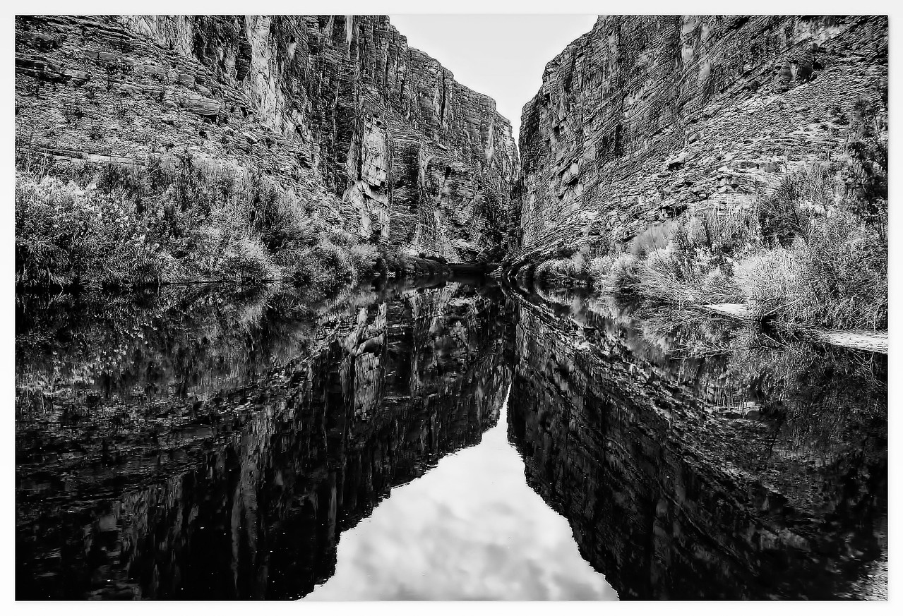 Rio Grande reflection in Santa Elena Canyon