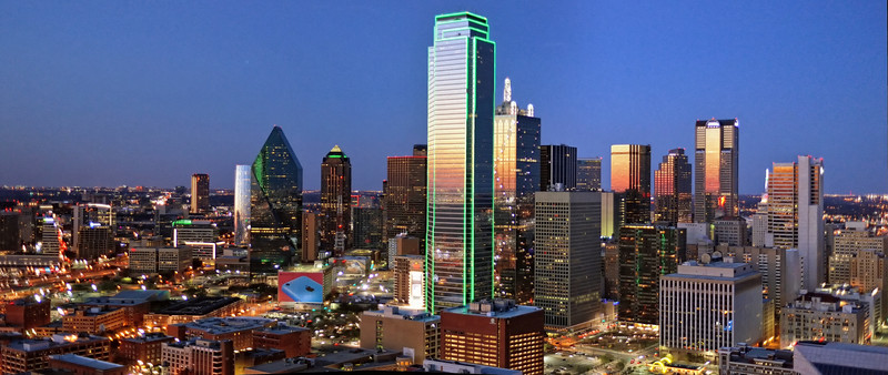 Downtown Dallas from Reunion Tower