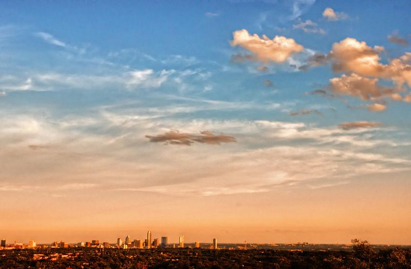 Summer sky in Austin, Texas