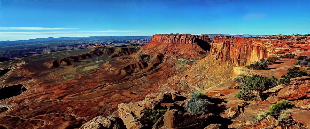Grand View overlook in Canyonlands National Park, Utah