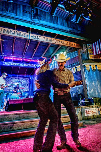 Two stepping to live music on Saturday night