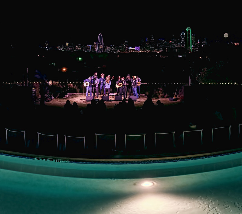 Guy Clark tribute poolside at the Belmont, Dallas