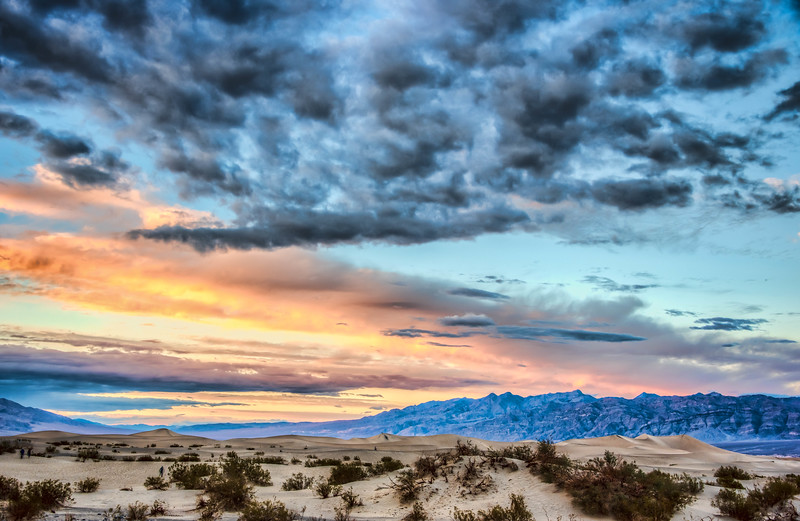 Mesquite Sand Dunes at sunset