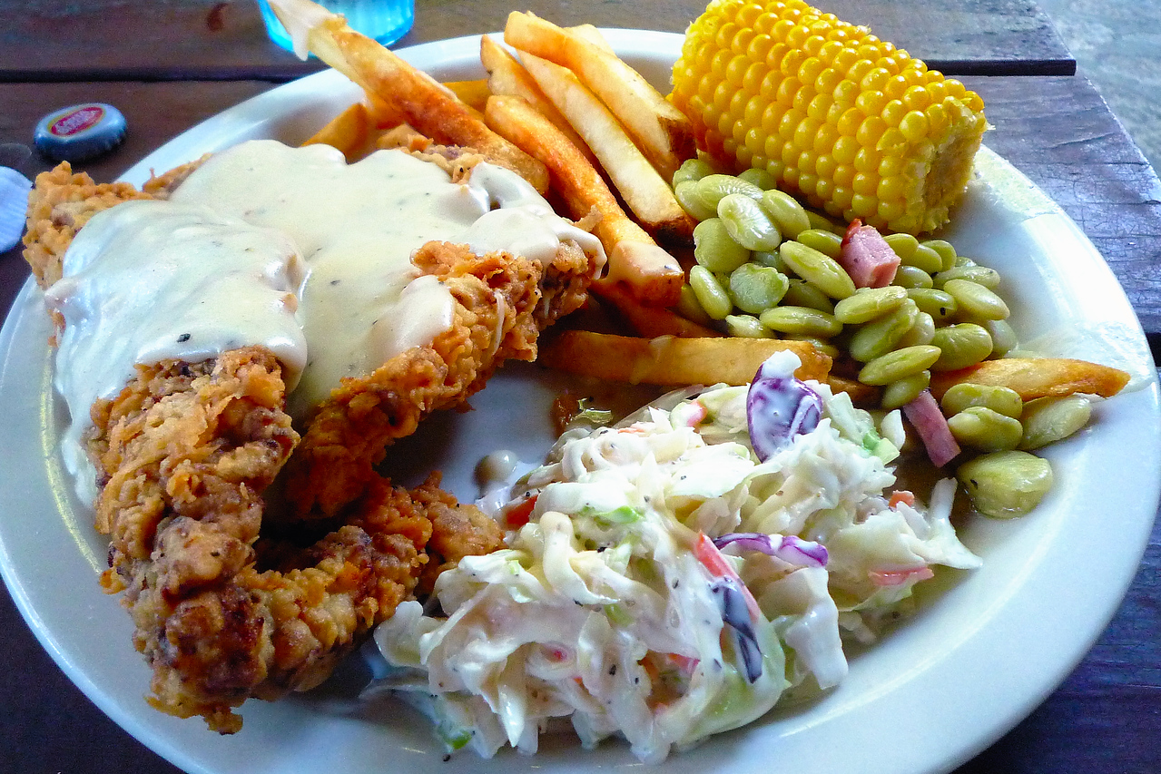 Chicken fried steak from Neal's Lodge, Concan, TX