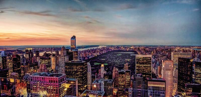 Sunset on Central Park