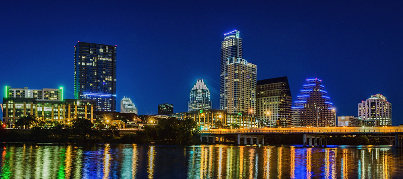 Austin skyline from Auditorium Shores