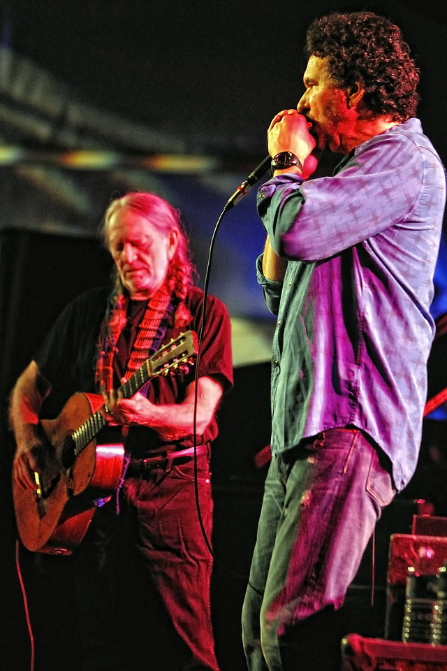 Willie Nelson and Mickey Raphael
