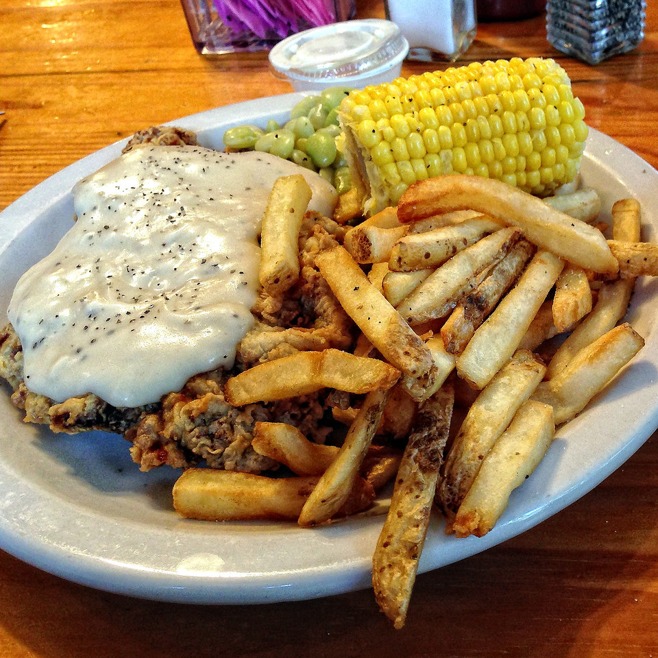 Chicken fried steak from Neal's Lodge Dining Room, Concan, TX