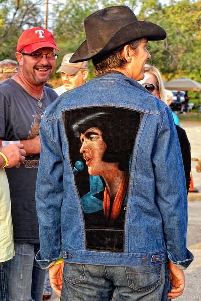Matt Hillyer wearing a velvet Elvis