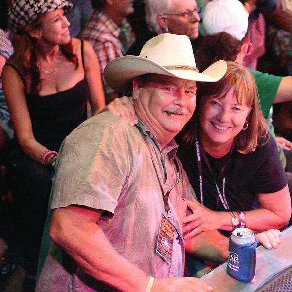 W.R. and Patti rocking to the Tejas Brothers