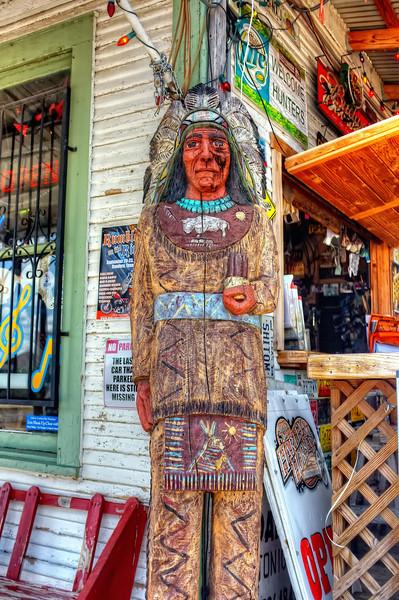 Wooden Indian at Bandera bar