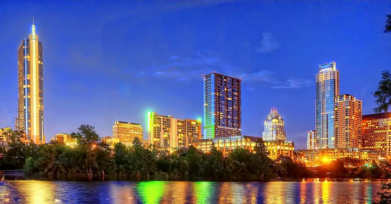 Austin skyline from Auditorium Shores