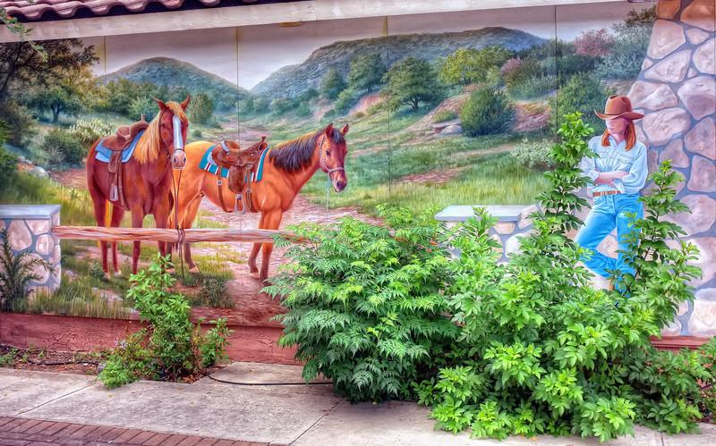 Mural in Bandera, TX