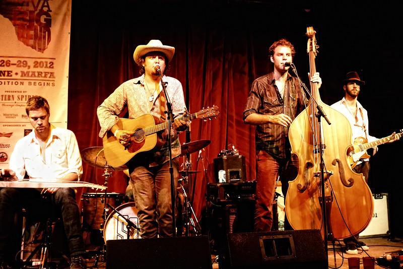Sons of Fathers performing at Padre's, Marfa