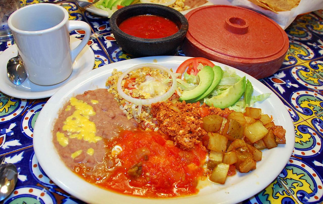 Mexican breakfast at Nueva Casita, Dallas, TX