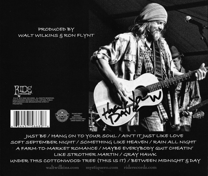 "Honored that Walt Wilkins included one of my photos in the album artwork for his new record ""Plenty."""