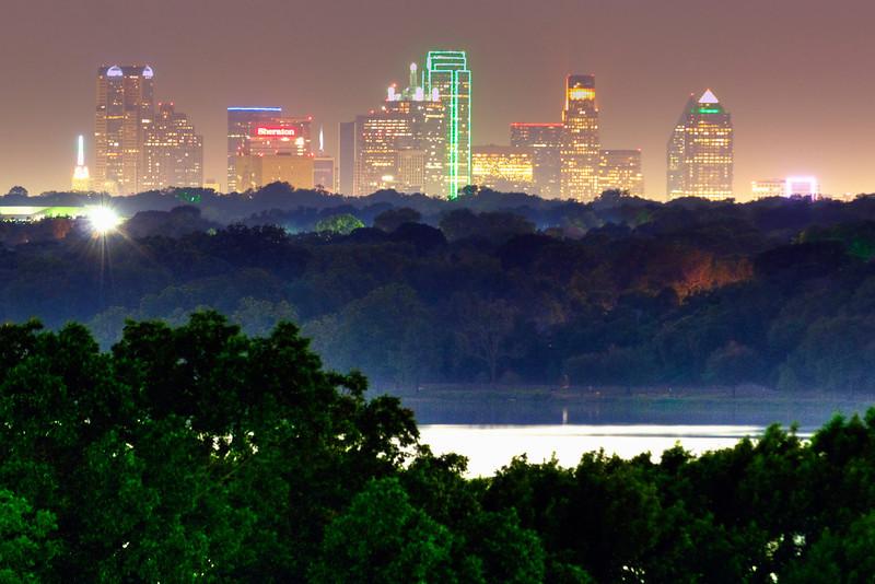 Dallas skyline from White Rock Lake
